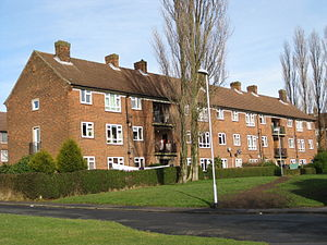 Moortown, Leeds - Flats on the Lingfield Estate, viewed from King Lane