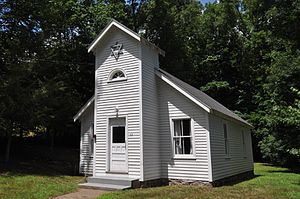 National Register of Historic Places listings in New London County, Connecticut - Image: Lisbon CT Anshei Israel Synagogue