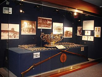 Punch bowl - The Liscum Bowl set on display, 2nd Infantry Division Museum, Korea