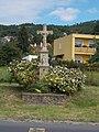 Listed stone crucifix, Gyenesdiás, 2016 Hungary.jpg