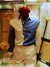 The original white and blue shirt and white shorts that Liverpool wore upon their foundation until 1894.