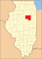 Livingston County at the time of its creation in 1837