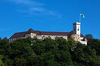 Ljubljana Castle from Ljubljana.jpg