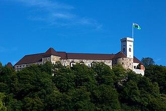 Ljubljana Castle - Image: Ljubljana Castle from Ljubljana