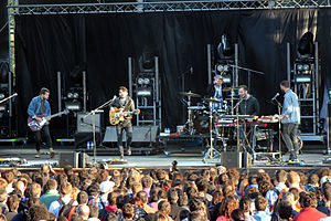 Local Natives - Local Natives onstage at Optimus Primavera Sound in 2013