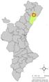 Localització de la Torre dels Domenges respecte del País Valencià.png