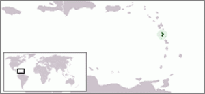 Geography of Dominica - Image: Location Dominica