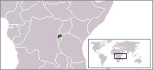 Kingdom of Rwanda - Image: Location Rwanda