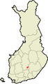 Location of Leivonmäki in Finland.png