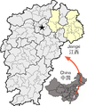 Location of Shangrao within Jiangxi.png