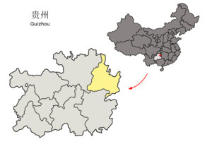 Location of Tongren Prefecture within Guizhou (China).png