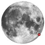 Location of lunar crater humboldt