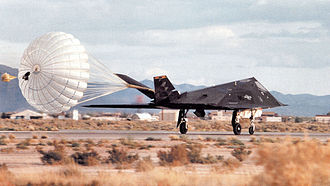49th Operations Group - 8th Fighter Squadron F-117A Nighthawk stealth fighter 86-0840 landing at Holloman AFB, New Mexico, 2000.