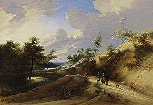 Lodewijk de Vadder - A Wooded Dune Landscape