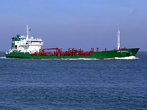 Lone Wonsild p2 approaching Port of Rotterdam, Holland 08-Apr-2007.jpg