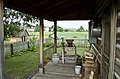 Looking S across back porch - Tinsley Living Farm - Museum of the Rockies - 2013-07-08.jpg