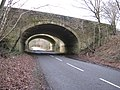 Looking west along the Slaugham road under the A23 - geograph.org.uk - 1133683.jpg