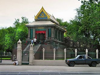 Religion in Thailand - San Phra Kan is a shrine dedicated to Vishnu of Tai folk religion, located in Lop Buri.