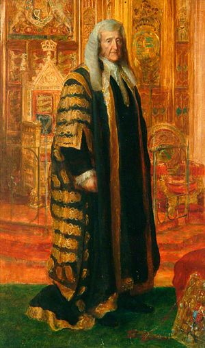 John Campbell, 1st Baron Campbell - Lord Campbell as Lord Chancellor, by George Frederic Watts.