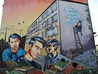 Los Prisioneros - Mural in San Miguel in tribute to Los Prisioneros.