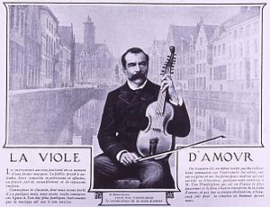 Louis van Waefelghem - Louis van Waefelghem with viola d'amore