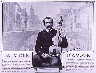 Viola d'amore - Louis van Waefelghem with viola d'amore