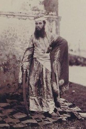 Louis Rousselet - Portrait of Louís Rousselet dressed as an Indian native. 1867