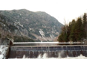 Mount Colvin - Mt. Colvin seen from Lower Ausable Lake