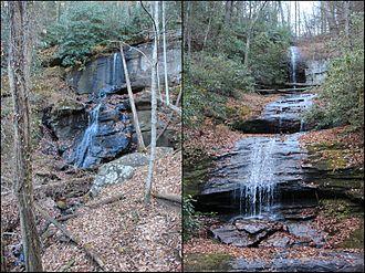 DeSoto Falls (Georgia) - Image: Lower and Upper De Soto Falls Georgia