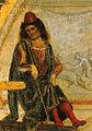 Luca signorelli, stendardo della flagellazione, flagellazione, dettaglio pilato.jpg