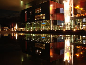 Lucerne - The Lucerne Culture and Congress Centre at night