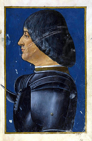 Ludovico Sforza - Ludovico Sforza by Giovanni Ambrogio de Predis.