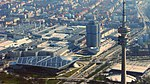 Luftbild München u.a. Olympiapark Eissportzentrum Olympiaturm Petuelring B2R Georg-Brauchle-Ring BMW - Foto Wolfgang Pehlemann HSBD4381.jpg