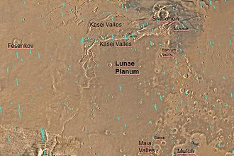 Kasei Valles - Image: Lunae Palus map
