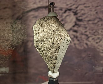 Moon rock - Olivine basalt collected by the crew of Apollo 15.