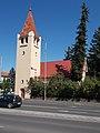 Lutheran church (1940), Vörösmarty Street side in Eger, 2016.jpg