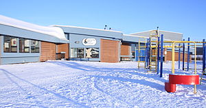Chipewyan - Image: Lutsel K'e Dene School in Winter
