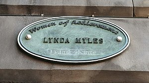 Lynda Myles (British producer) - Filmhouse Cinema plaque, Edinburgh