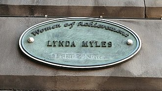 Lynda Myles (British producer) - Filmhouse Cinema plaque, Edinburgh