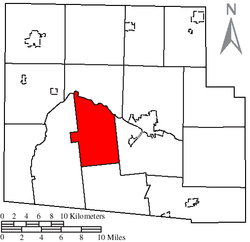 Location of Lynn Township, Hardin County, Ohio