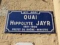 Lyon 9e - Quai Hippolyte Jaÿr - Plaque (fév 2019).jpg