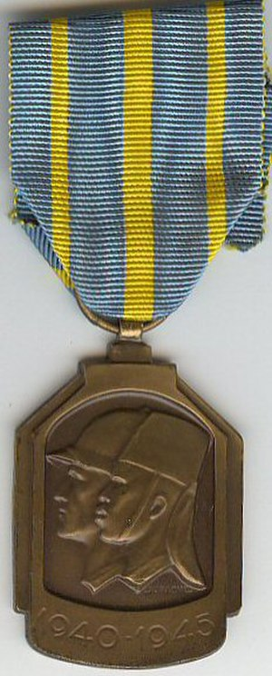 1940–1945 African War Medal - 1940-1945 African War Medal (obverse)