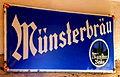 Münsterbräu enemal advertising siign.JPG