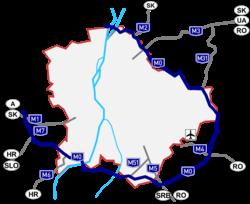 budapest körgyűrű térkép M0 s autóút (Magyarország) – Wikipédia budapest körgyűrű térkép
