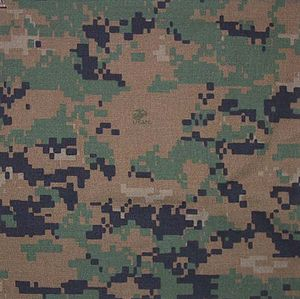 MARPAT - A swatch of MARPAT in the woodland pattern variant.