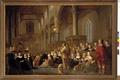 MCC-39370 Interieur van de Grote of Laurentiuskerk te Weesp tijdens een eredienst (1).tif