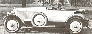 Leyland Eight - 1921 Leyland Eight four-seater tourer