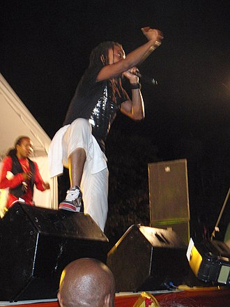 Machel Montano - Machel Montano performing at a fete at Brian Lara's house in Barbados (2008)