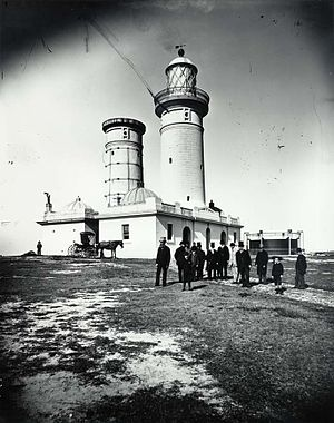 Richard Siddins - Macquarie Lighthouse old and new removed lantern