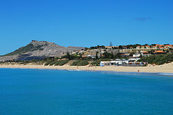 Partial view of Porto Santo beach